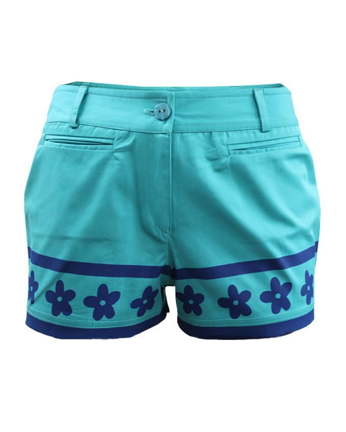 Giro Cotton Shorts – Turquoise