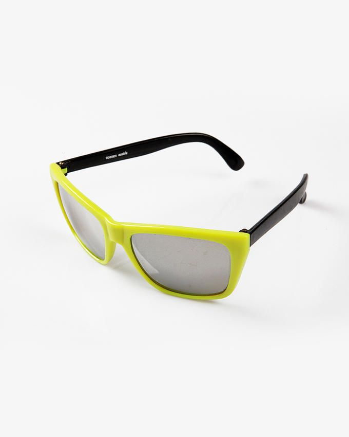 Ticomex Dual color Wayfarer Style Kids Sunglasses - Yellow Frame with Black Handles