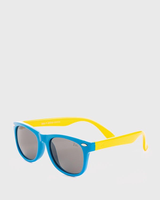 Nile Kids Polarized Wayfarer Sunglasses - Lagoon Blue & Yellow