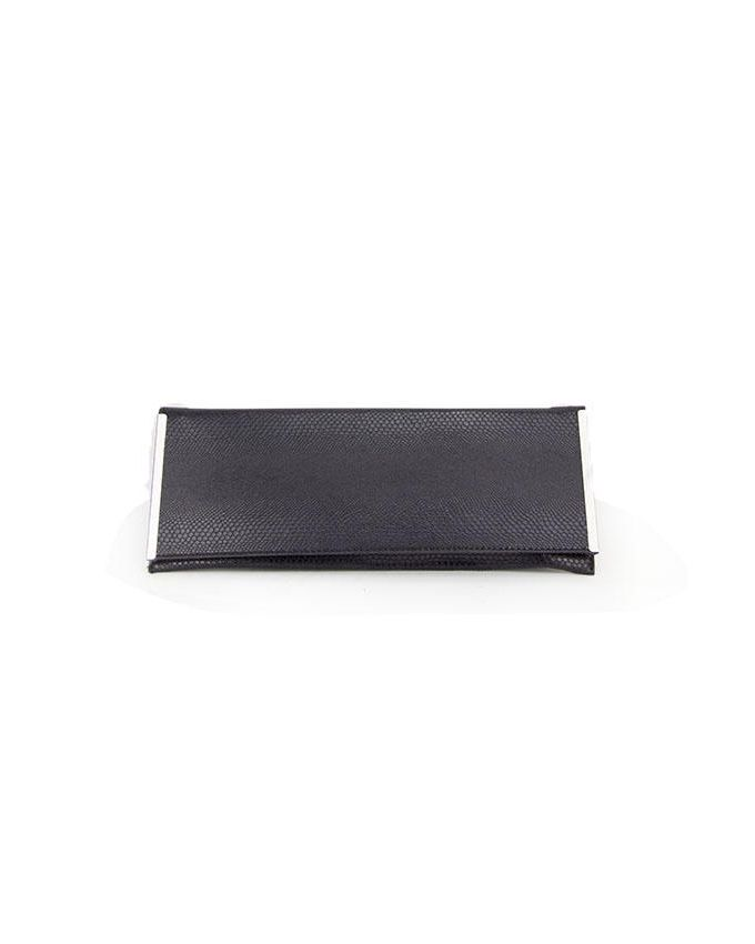 Walkies Black Textile Printed Clutch
