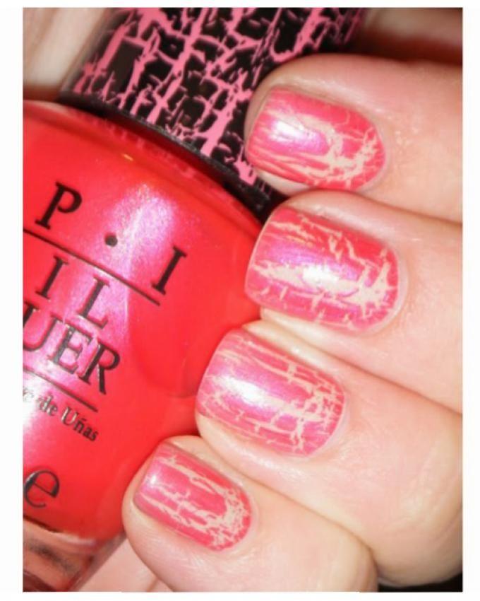 Nail Polish - NL E58 Pink Shatter - 15ml