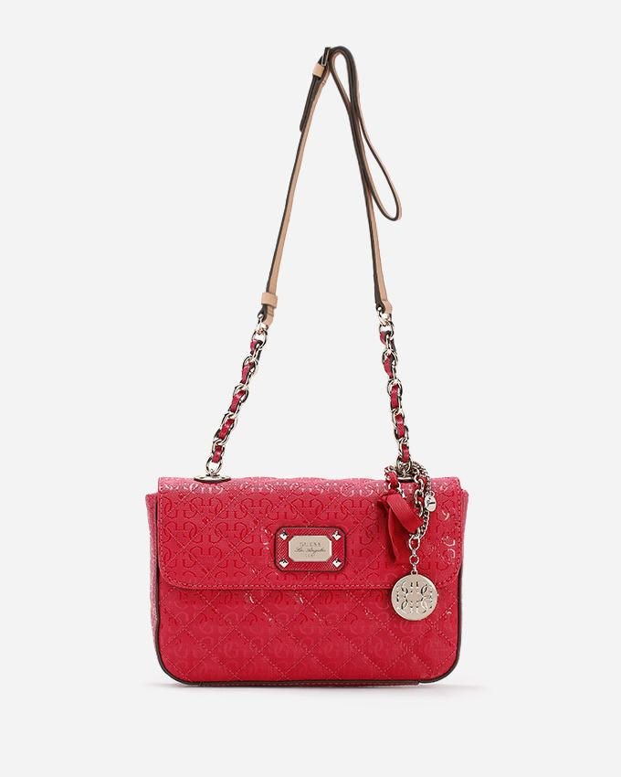 Guess Juliet Flap Shoulder Bag - Scarlet Fuchsia