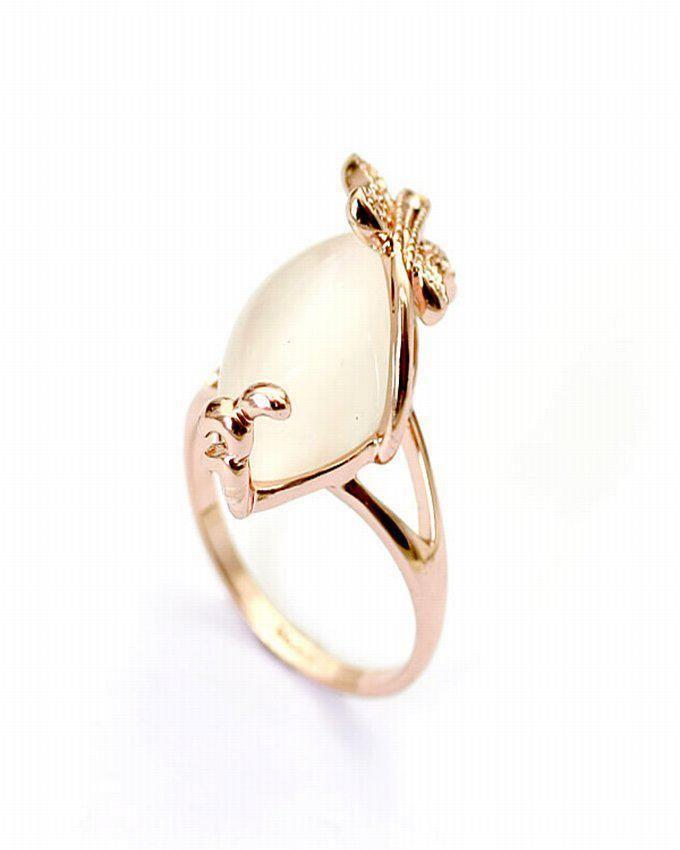 Dinardo Rose Gold 18K Gold Plated Swarovski Ring logo