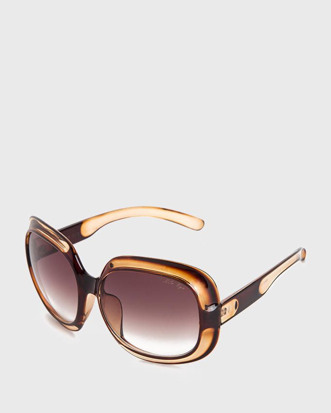 Nile 70's Oversized Sunglasses - Dark Brown