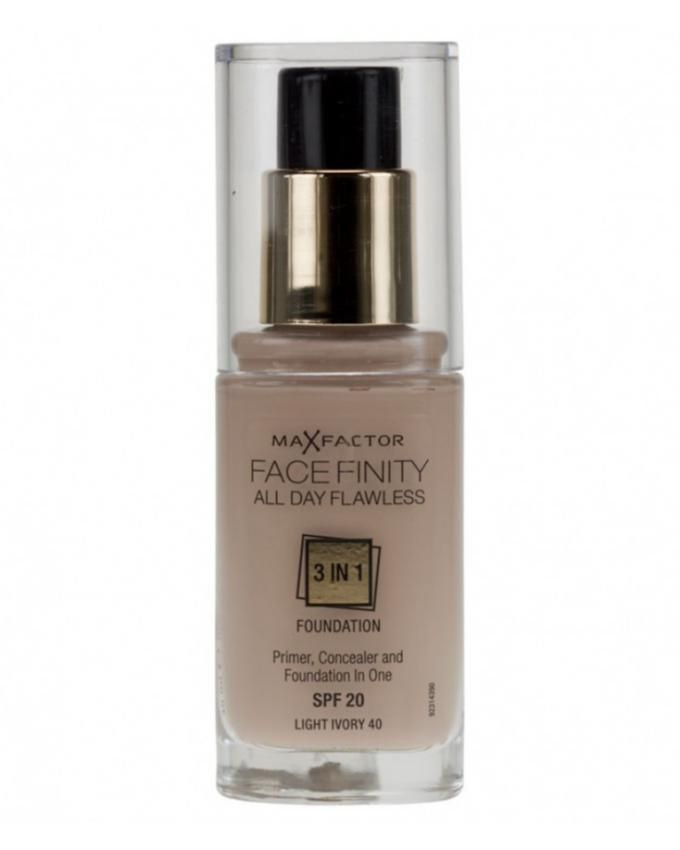 Face Finity 3 In 1 Foundation - 30 ml -  40 Light Ivory