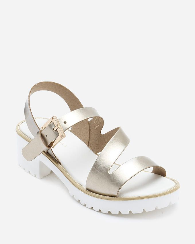 J.C Strappy Sandals - Gold