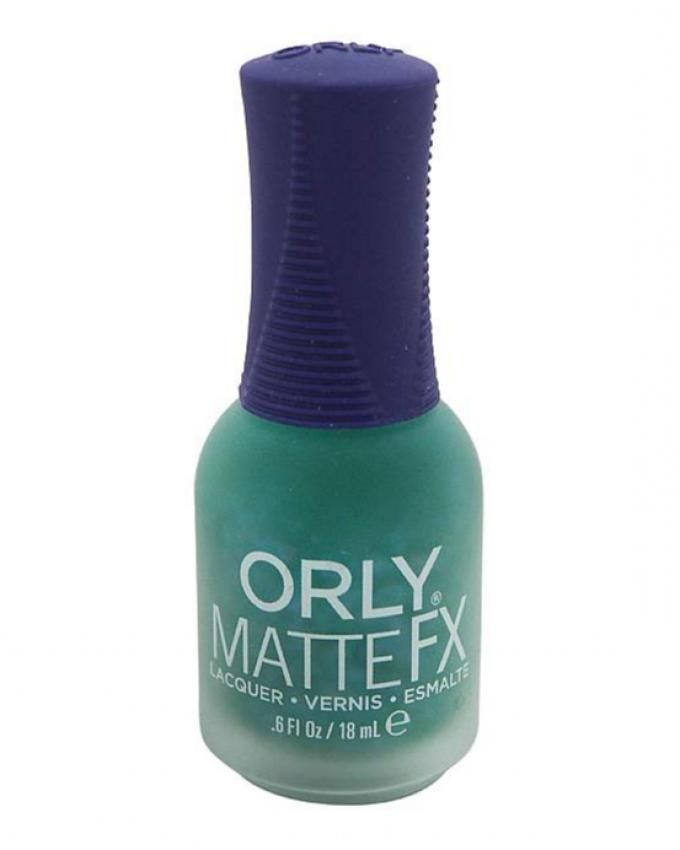 20814 Matte FX Nail Lacquer - Green Flake Topcoat