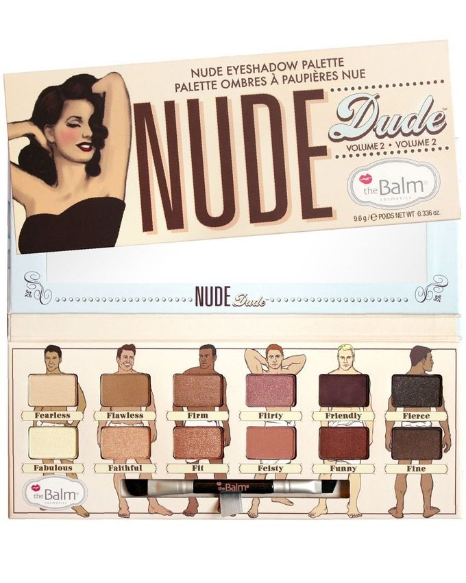 Nude Eyeshadow Palette Dude - 12 Shades