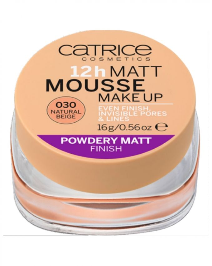 12h Matt Mousse Makeup Foundation - 030 Natural Beige
