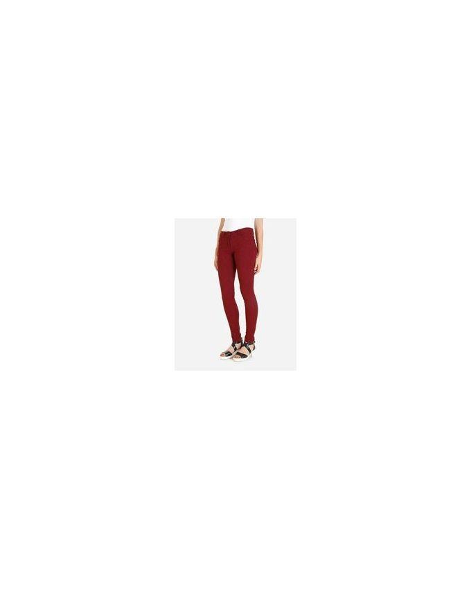 Giro Floral Pattern Skinny Pants - Burgundy