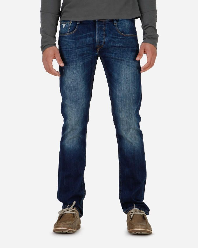 Guess Vermont Slim Tapered Jeans - Dark Blue
