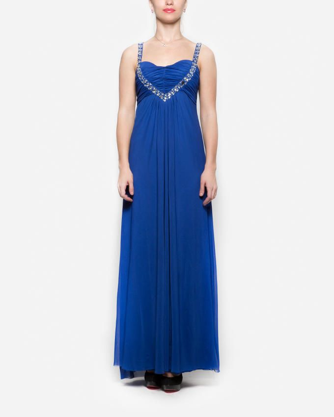 ETHINA Strappy Maxi Dress with Decorative Stones - Royal Blue ... 9af9a4b1875