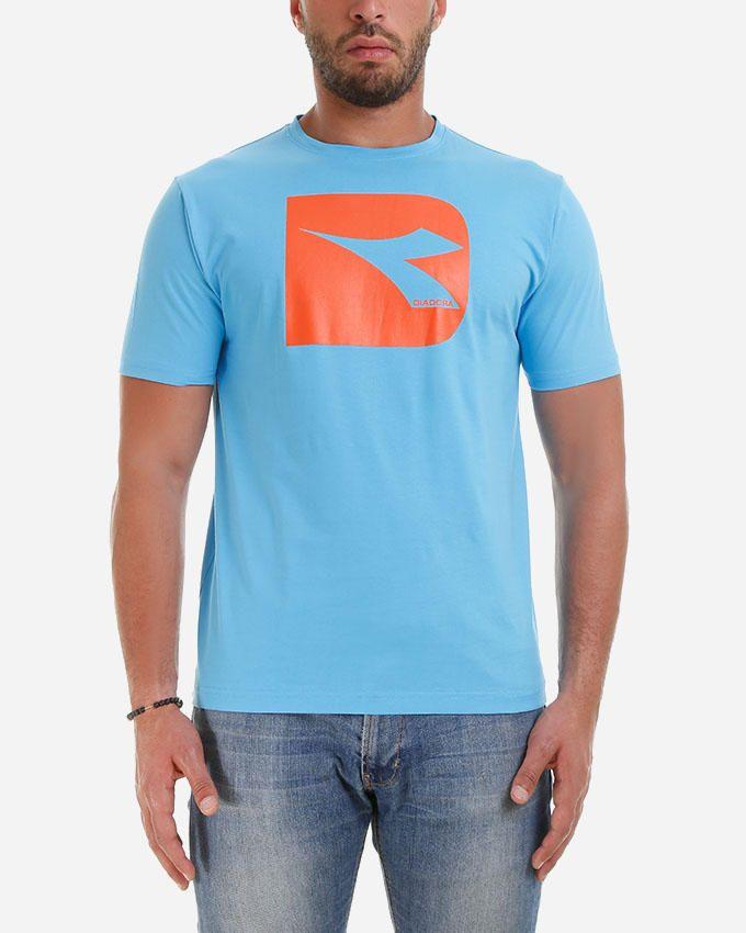 Diadora Men T-shirt - Cyan