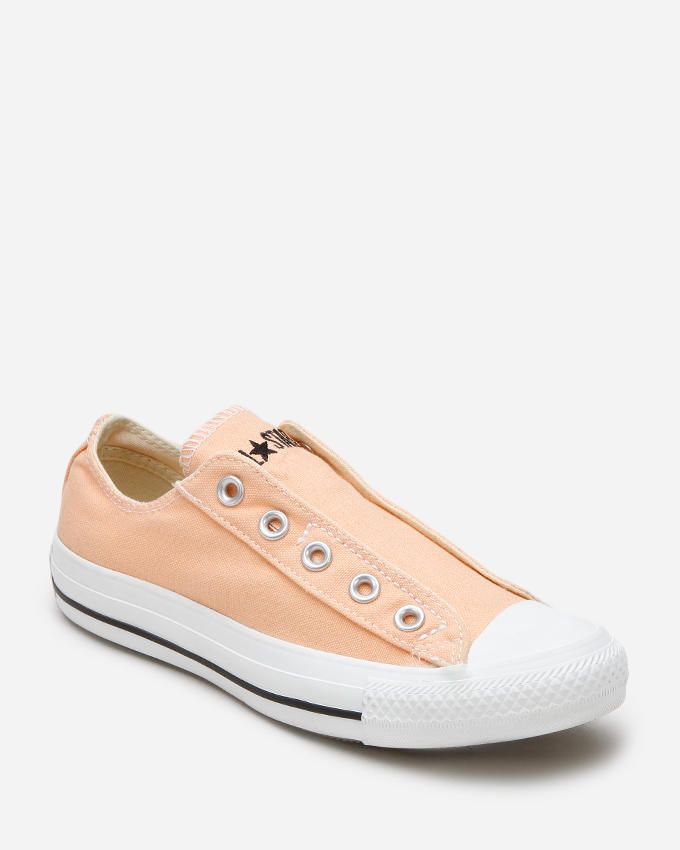 Converse Peach Canvas Chuck Taylor All Star Slip On Sneakers