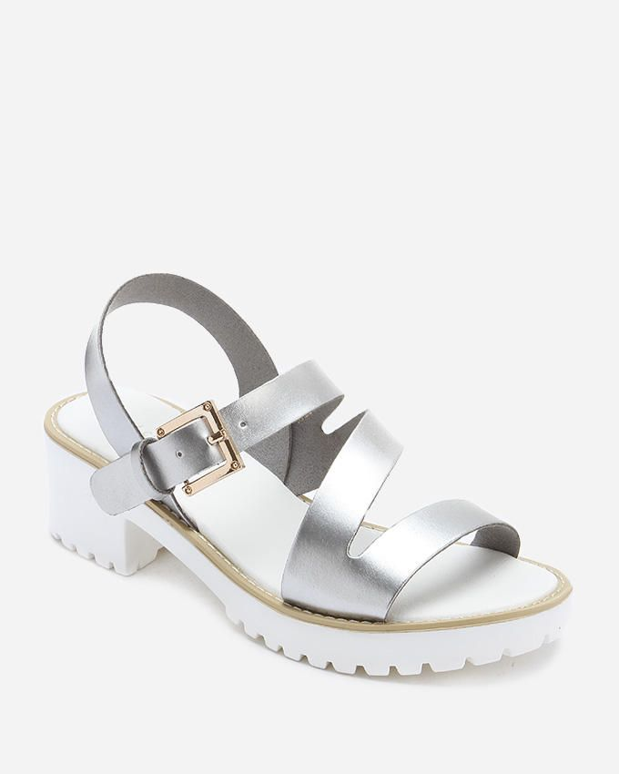 J.C Strappy Sandals - Silver