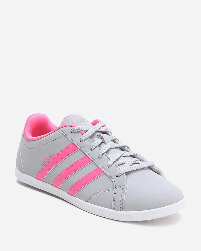 Adidas Women CONEO QT Sneakers - Grey & Pink