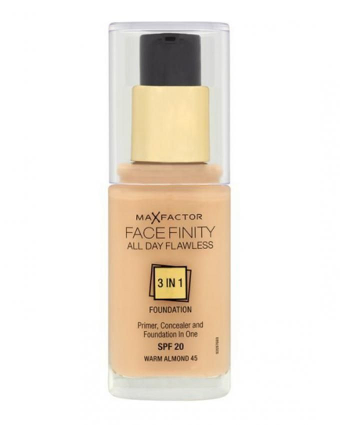 Face Finity 3 In 1 Foundation - 30 ml - 45 Warm Almond