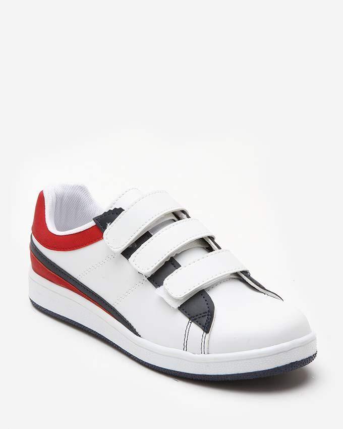 Zigana Triple Velcro Sneakers - White logo