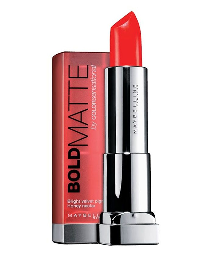 3 Color Sensational Bold Matte Lipstick - Carving Coral