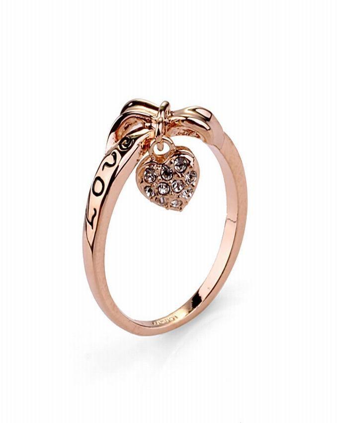 Dinardo Dinardo 18K Gold Plated Swarovski Ring