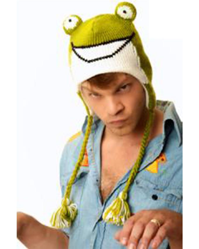 Panda Hats HB-WH006 Knit Frogy - Green