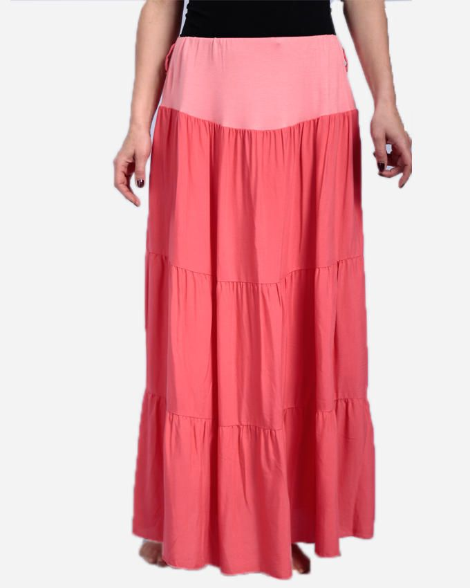 Guzel House Maxi Skirt - Coral Pink