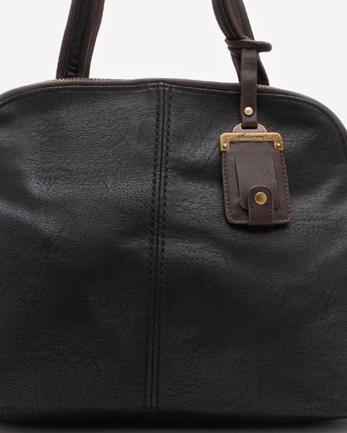 شنطة يد حريمى سوداء Shoe Room Structured Bag
