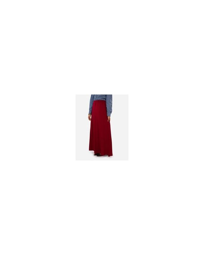 Rehan Burgundy Lycra Cotton Skirt