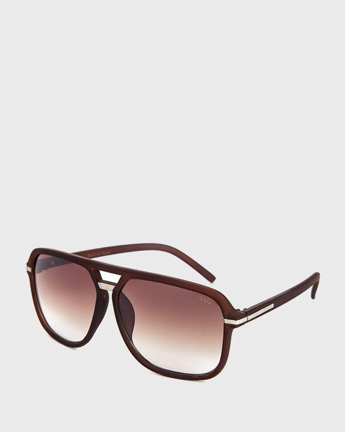 Nile Oversized Aviator Sunglasses - Brown
