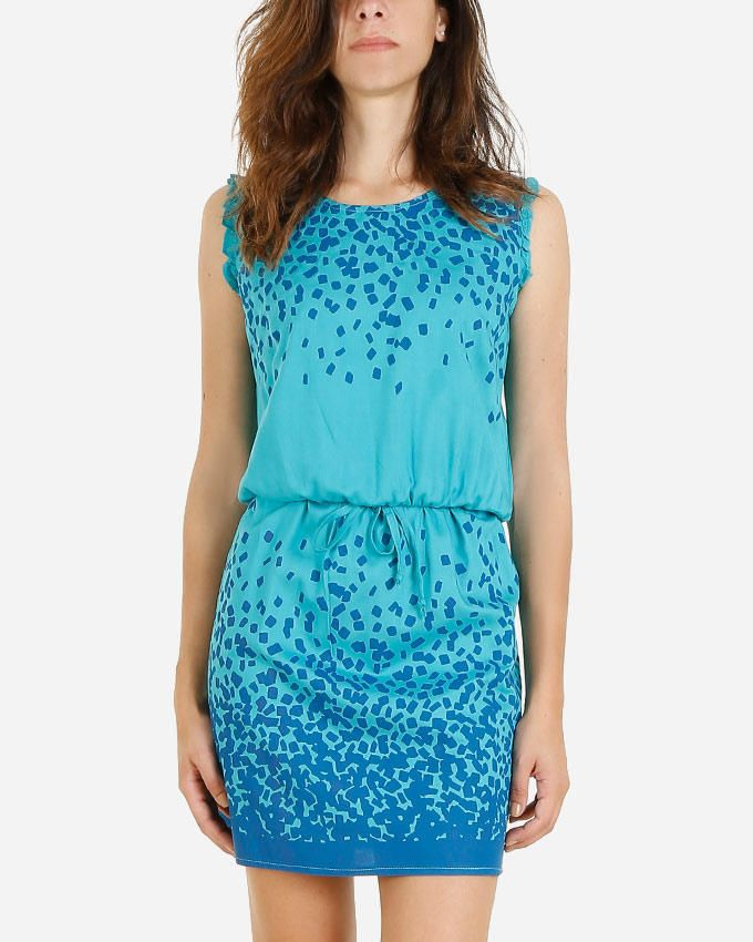 Giro Sleeveless Printed Dress - Turquoise