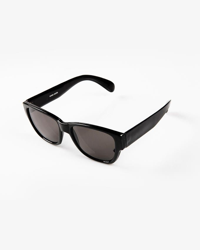 Ticomex Dual Color Oversized Retro Flat Kids Sunglases - Black
