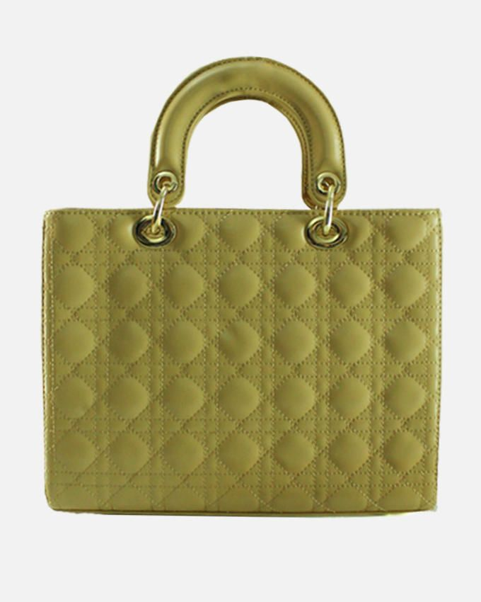 Smooches Cosmopolitan Camel Quilted Hand Bag
