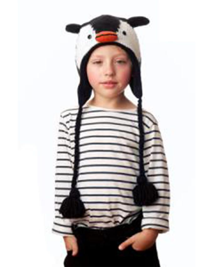 Panda Hats HB-WH058 Knit Penguin - Black/White