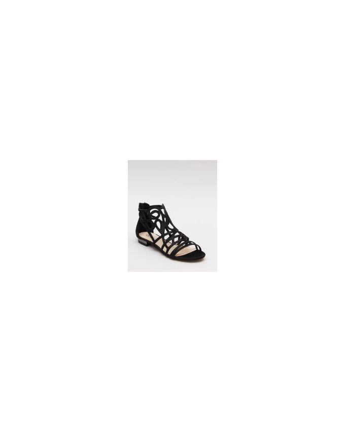 Mr. Joe Strappy Flat Sandals - Black