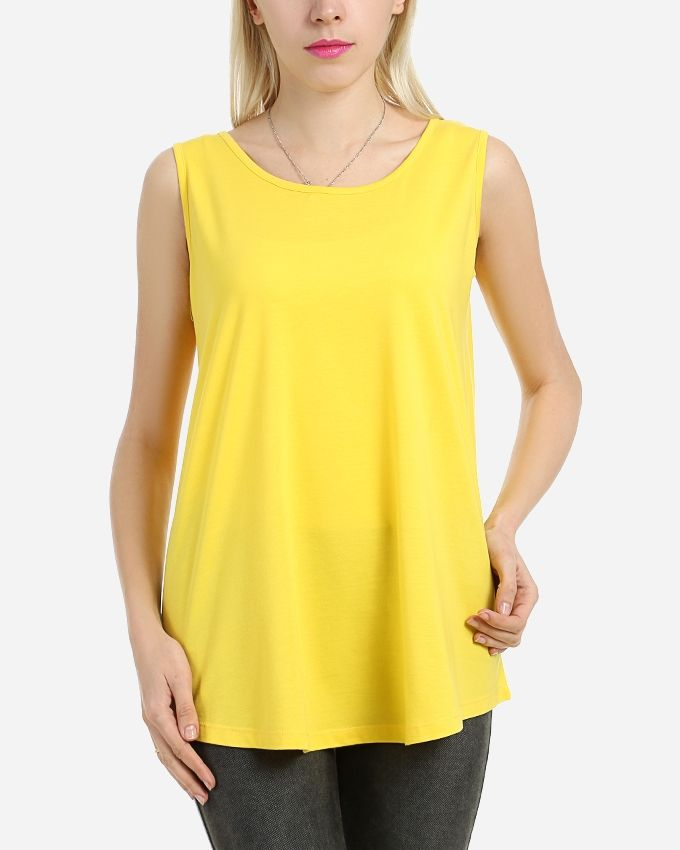 Basic Cotton Top -Yellow