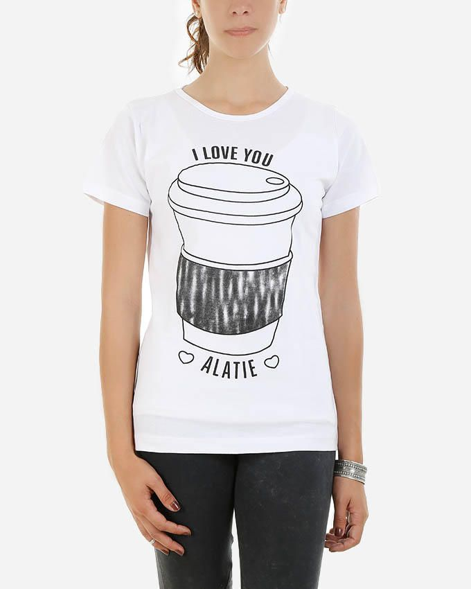 Be Positive Cup T-Shirt - White