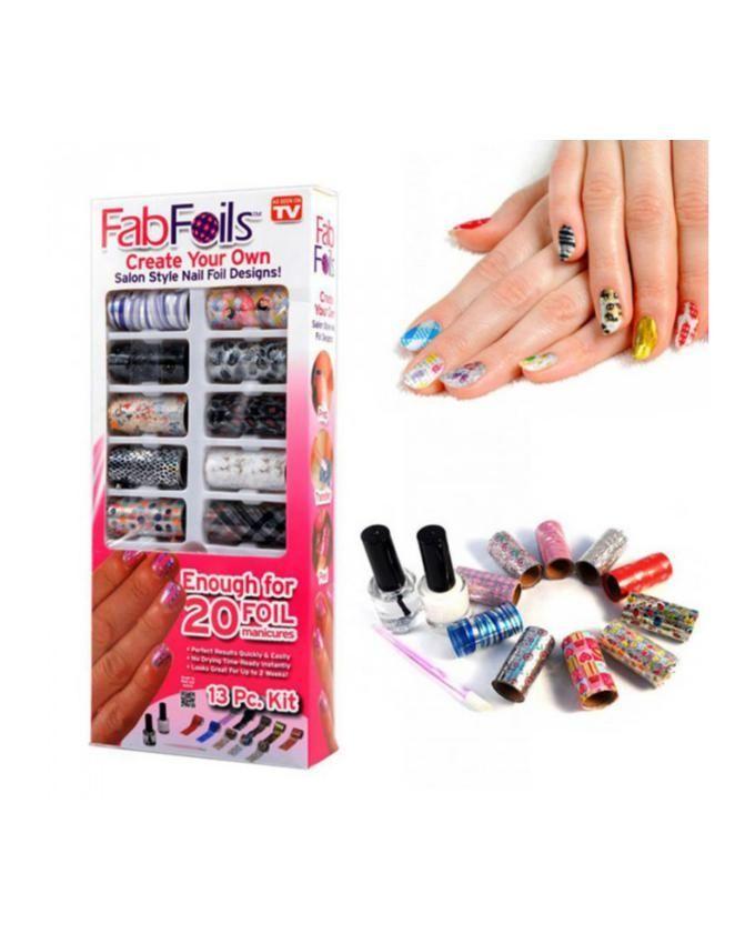 Foils Nail Art Kit - 13 Pcs