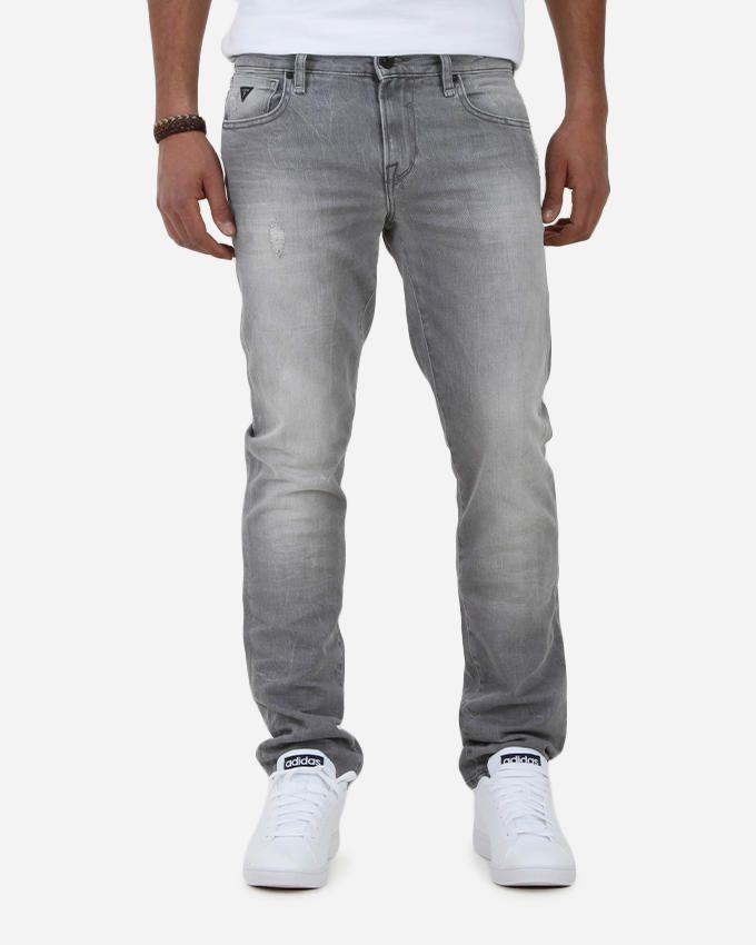 Guess Skinny Cold Grey Denim Pants - Grey