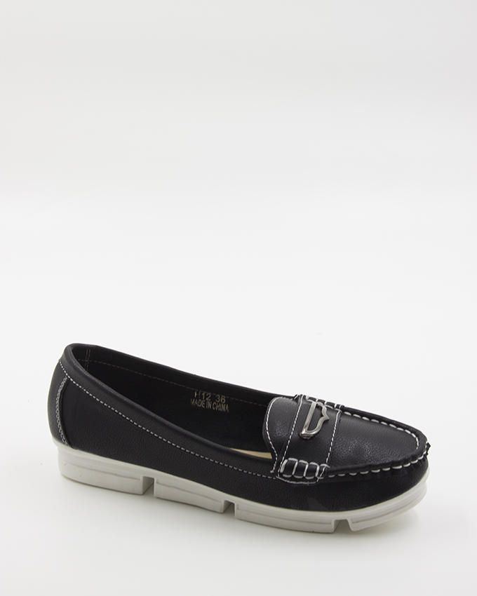 Walkies Black PU Leather Shoes