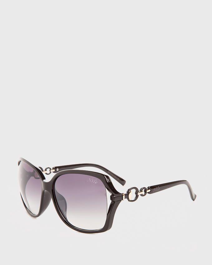 Nile Golden Chains Oversized Sunglasses - Black