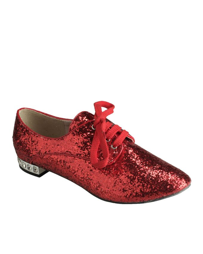 Women Women Shoes Ballerinas and Flats Belle women Red Glittery Oxford