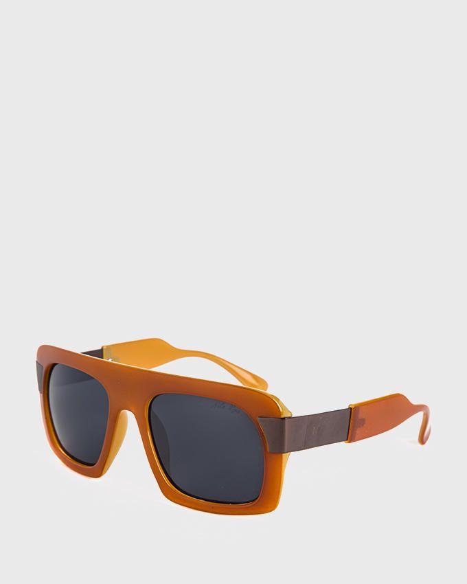 Nile Unisex Shield Sunglasses - Havana Orange