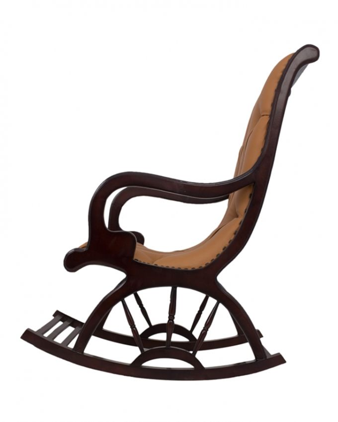 Art Home Upholstered Rocking Chair Brown