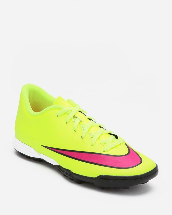 490d5ef29455 Nike Mercurial Vortex II TF Football Shoes - Neon Yellow & Fuchsia logo