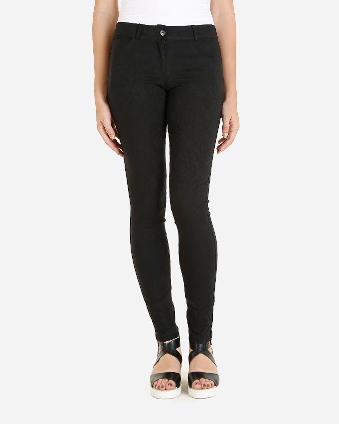 Giro Floral Pattern Skinny Pants - Black