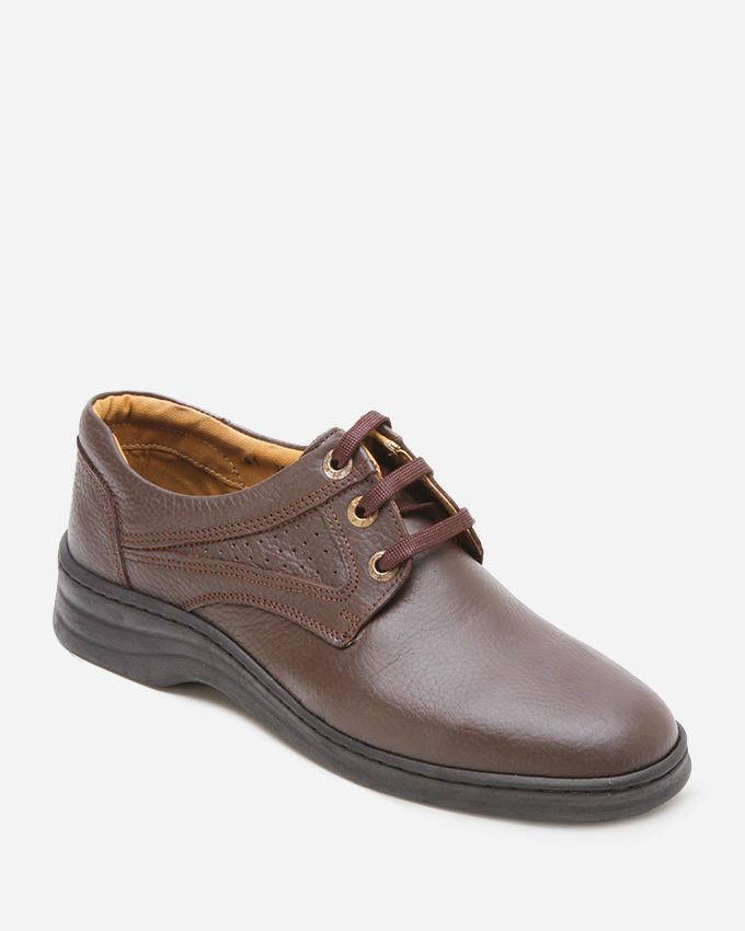 Star  Derby Shoes - Brown