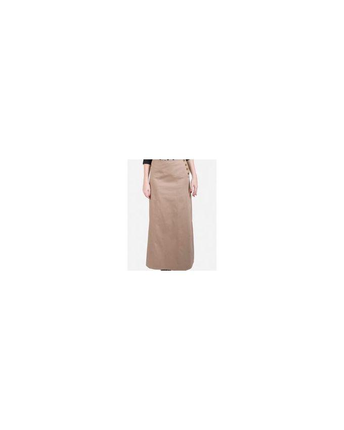 giro side buttons maxi skirt beige buy jumia
