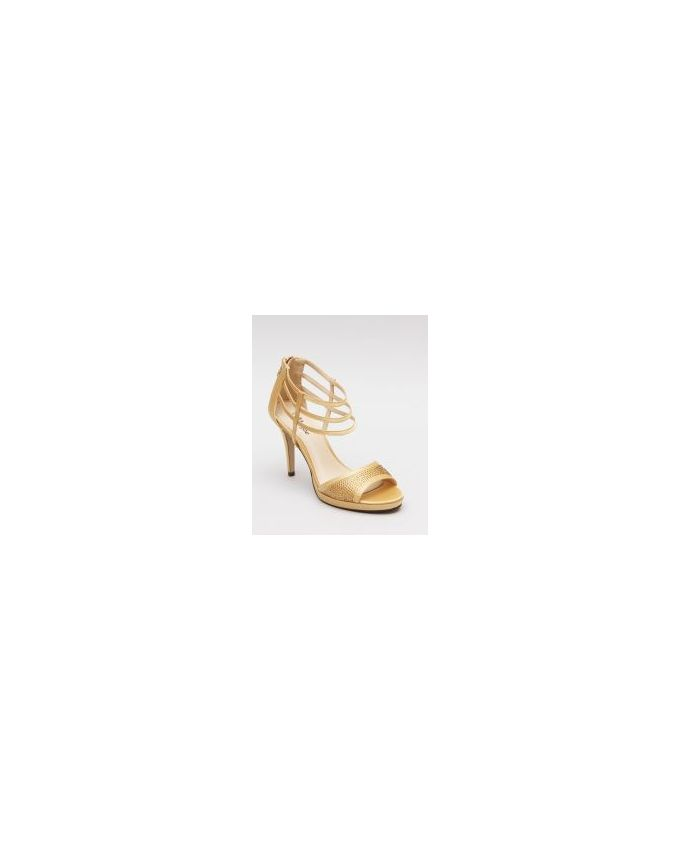 Mr. Joe Strappy Ankle Heeled Sandals - Gold