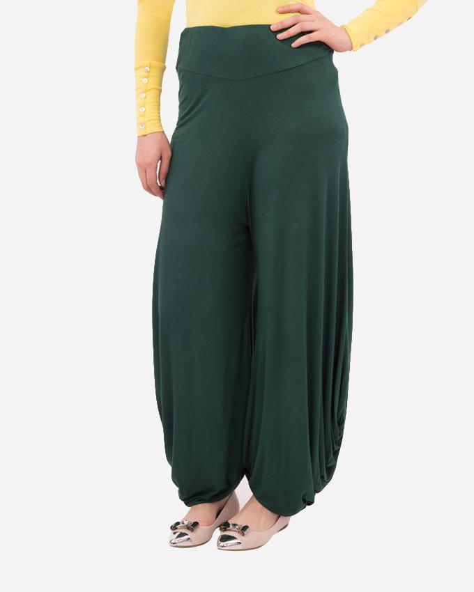 Glow Basic Harem Pants - Dark Green