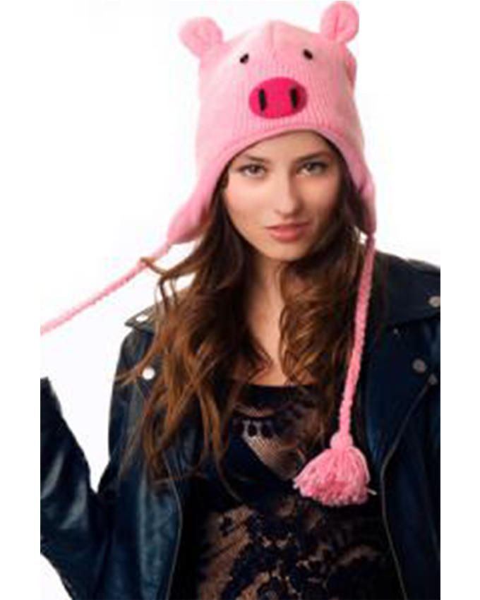 Panda Hats HB-WH009 Knit Piggie - Pink